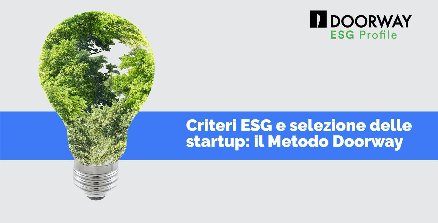 Criteri ESG e selezione delle startup: il metodo Doorway