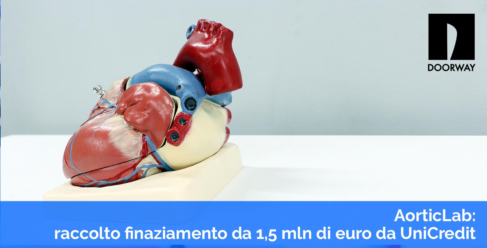 aorticlab: raccolto finanziamento da 1,5 mln di euro da Unicredit